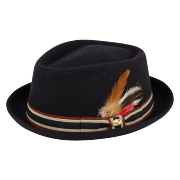 5e123c74b2b718 Accessories | Mens Navy Blue Wool Fedora Hat | Poshmark